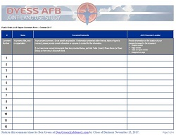 sdyess afb jlus public draft comment form